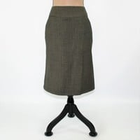 Dark Gray Skirt XS Small Wool Skirt with Pockets Fishtail 40s Style Skirt Straight Skirt Size 2 Banana Republic Womens Clothing