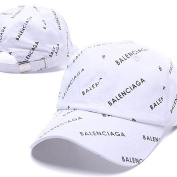 White BALENCIAGA Golf Baseball Cap Hat