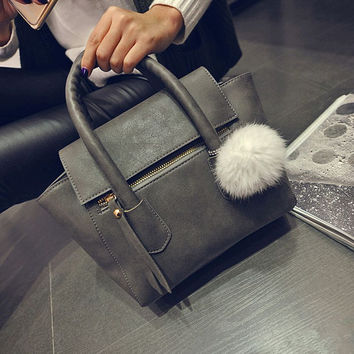 Winter Korean Stylish Matte Bat Tote Bag One Shoulder Messenger Bags [6582316103]