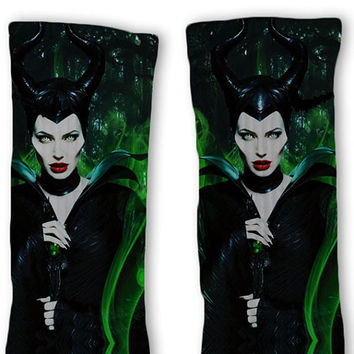Disney Maleficent Fast Shipping!! Custom Nike Elite Socks