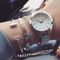 Sandy metal watch (3 colors)