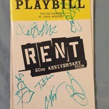 Rent Playbill Signed