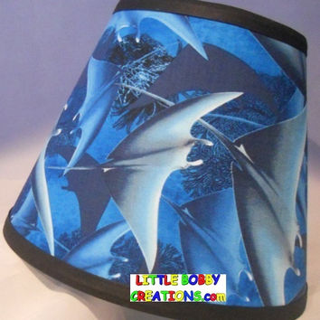 Sea Life Sting Ray Fabric Lamp Shade (10 Sizes to Choose From!)