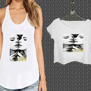Lana Del Rey Mirror Face to Face For Woman Tank Top , Man Tank Top / Crop Shirt, Sexy Shirt,Cropped Shirt,Crop Tshirt Women,Crop Shirt Women S, M, L, XL, 2XL*NP*