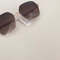 NWT Jessica Simpson White Rose Gold Women's Sunglasses