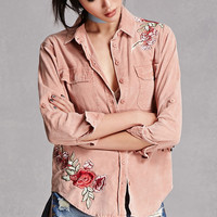 Corduroy Embroidered Shirt