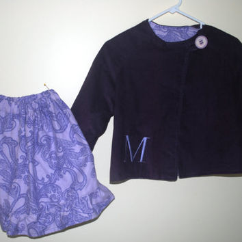 PDF Girls Sewing pattern Jacket & Ruffle Skirt Size 3,4,5