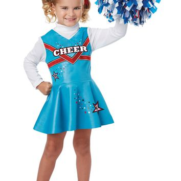 Infant/Toddler Costumes Cheerleader (Large (4-6),Blue)