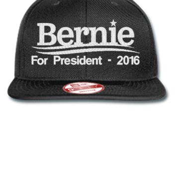 Bernie Sanders 2016 EMBROIDERY HAT - New Era Flat Bill Snapback Cap