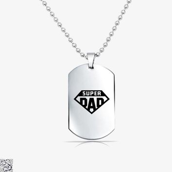 Superdad, Father's Day Tag Necklace