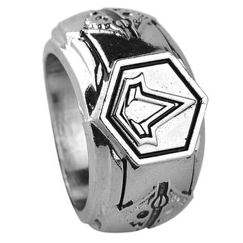 Punk Rings For Men Vintage Game Fans Jewelry Assassins Creed Cospaly Rings Dia Meter 1.9cm