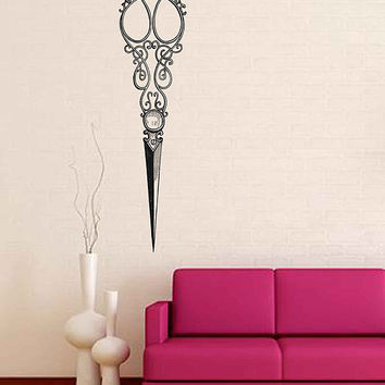 scissors Vintage Wall Decals Beauty Salon Decoration steampunk Wall Decal Hair Salon Wall Decals Hairstylist Decal barbershop Decals kik3349