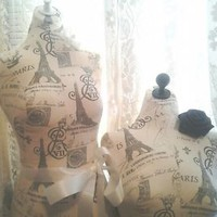 Boutique dress form and bust craft booth displays wholesale Paris Eiffel Tower