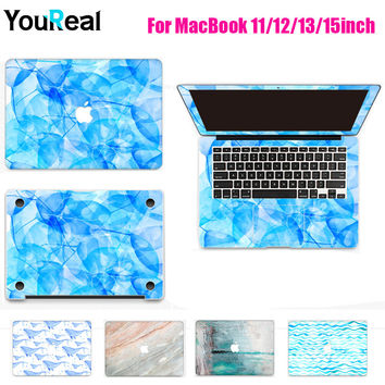 Colorful Painted Laptop Sticker For MacBook Air 11 13 Pro 13 15 Retina 12 13 15 inch Notebook Skin Computer Stickers Cover