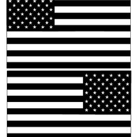 American Flag decal Left and Right, normal and reversed