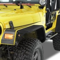 "Warrior Products S7314-RAW 10"" Wide 2 and 4 Door Front Tube Flares with Raw Material Steel Tops for Jeep JK 07-10"