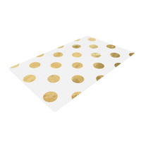 "KESS Original ""Scattered Gold"" Woven Area Rug"