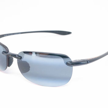 Maui Jim Sandy Beach 408-02 Gloss Black Polarized Sunglasses