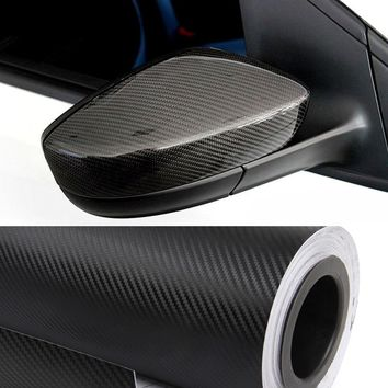 Car Styling Premium High Gloss 152cm*50cm 5D Black Carbon Fiber Vinyl Wrap Car Motorcycle Styling Accessories Waterproof Sticker