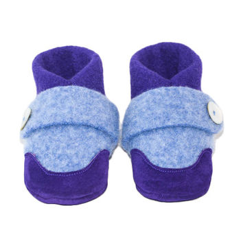 Kids Lambswool Shoes, Soft Sole Slippers