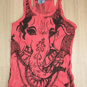 Woman's size S Cute Yoga Outfit Tank Top Ganesha by letshugitout