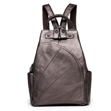 High quality  leather backpack college girl small daypacks backpacks stacy bag women fashion bags for teenagers mochila