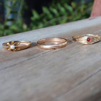 Victorian Ring Ostby Barton 10k gold ring OB pinky midi child baby Titanic   10% OFF coupon in item detail
