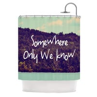 "Rachel Burbee ""Somewhere"" Shower Curtain"
