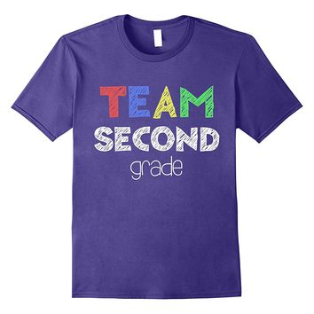 Team Second Grade T-Shirt 2nd Grade Back To School Gift