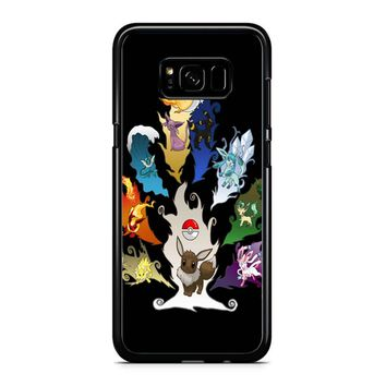 Eeveelution Tree Samsung Galaxy S8 Case