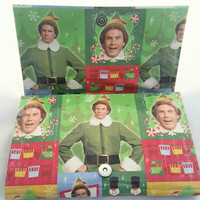 Cool Green Clutch Handbag - Upcycled Elf Movie Wrapping Paper Purse - Buddy the Elf Novelty Handbag - Christmas Purse - Unique Gift for her