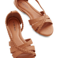 ModCloth Boho Feeling Carefree Sandal in Tan