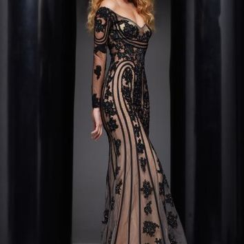 Jasz Couture Sleeved Dress 5331