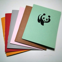 Panda Notebook - journal, staple bound, multipack