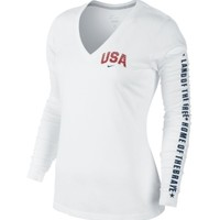 Nike Women's Dri-FIT Cotton Long Sleeve Shirt