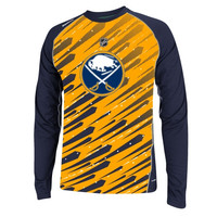 Buffalo Sabres Reebok 2014 Center Ice TNT PlayDry Long Sleeve Fashion T-Shirt - Gold