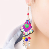 Accessory Embroidery Lucky Tassels Earrings [4918910212]