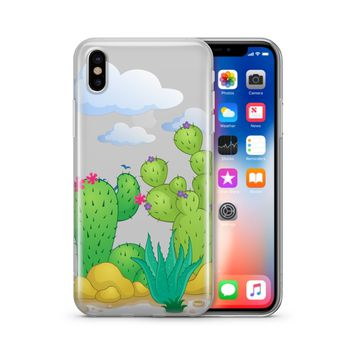 Desert Cactus - Clear TPU Case Cover