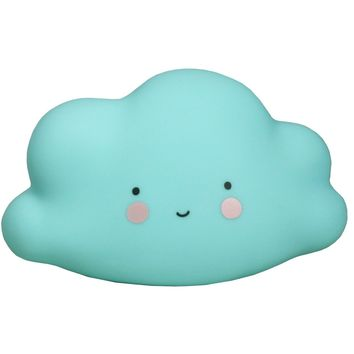 A Little Lovely Company Mini Blue Cloud Light