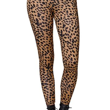 Gypsy Warrior Knit Leopard Leggings - Womens Pants - Leopard