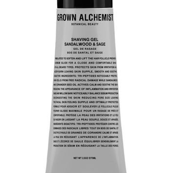 GROWN ALCHEMIST shaving gel with sandalwood and sage