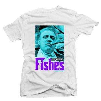 Bobby Fresh Sleep With the Fishes Aqua 8s Tee