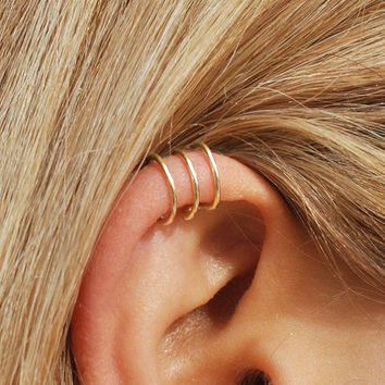 Triple Ear cuff - 3 Ring Ear Cuff - Helix Ear Cuff - Triple Earcuff - Ear Cuff - Ear Cuffs - Earcuff