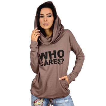 Fashion Long-Sleeved Hooded Printing Top