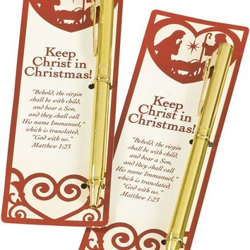 keep christ in christmas bookmark & pen Case of 12