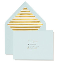 kate spade new york Bridal Thank You Note Card Set - All of the Above | Dillards