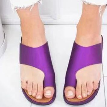 New flat bottom thick sole covers toe outside to wear half drag sandal