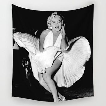 Comwarm Classic Sexy Goddess Marilyn Monroe Pattern Wall Hanging Hippie Polyester Tapestry Yoga Mat Beach Towel Gypsy Home Decor