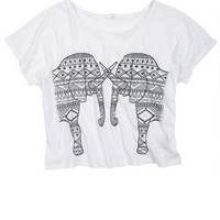 Mirror Aztec Elephants Tee