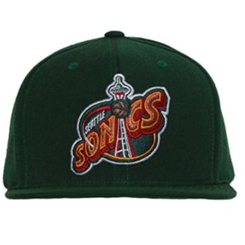 Mitchell & Ness Seattle Supersonics NBA Wool Solid 2 Snapback Cap